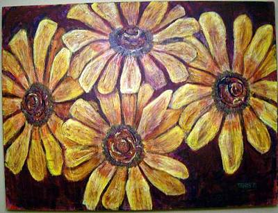 Painting - Daisies by Don Thibodeaux