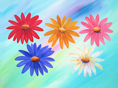 Painting - Daisies by Elizabeth Lock