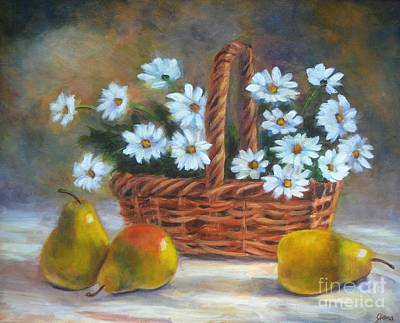 Painting - Daisies In Basket by Jana Baker