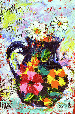 Painting - Daisies In The Portuguese Jug by Lynda Cookson