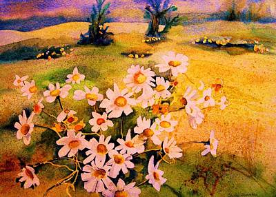 Painting - Daisies In The Sun by Carole Spandau