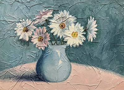Painting - Daisies by Janet King