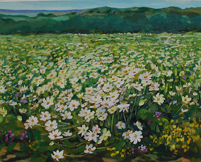 Painting - Daisies  by Liliane Fournier