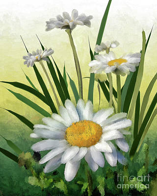 Digital Art - Daisies by Lois Bryan