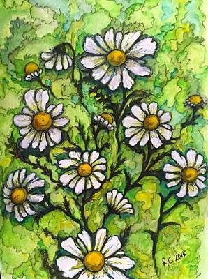 Painting - Daisies by Rae Chichilnitsky