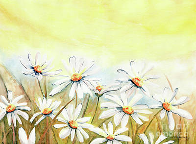 Painting - Daisies Watercolor by Melly Terpening