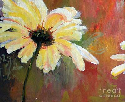 Daisy 1 Of 3 Triptych Art Print by Susan Fisher