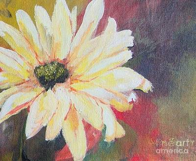 Daisy 3 Of 3 Triptych Art Print by Susan Fisher