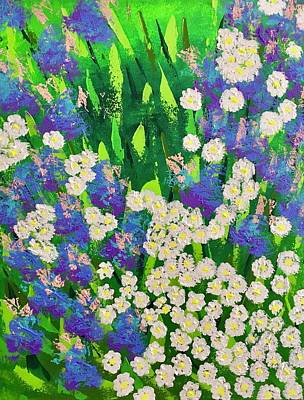 Painting - Daisy And Glads by George Riney