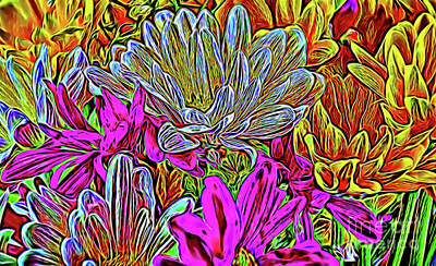 Photograph - Daisy Bouquet 106 by Ray Shrewsberry