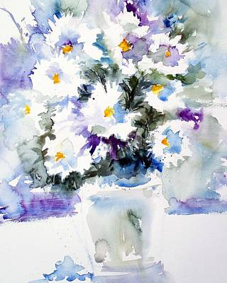 Daisy Bouquet Art Print by Carol Sprovtsoff