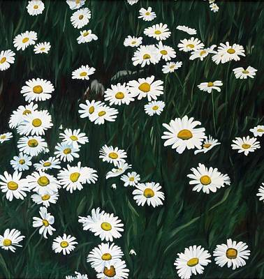 Painting - Daisy Bouquet by Phil Chadwick