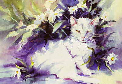Painting - Daisy Cat by Connie Williams