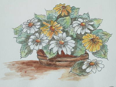 Painting - Daisy Craze by Sharyn Winters