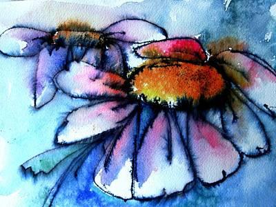 Painting - Daisy Dance by Anne Duke