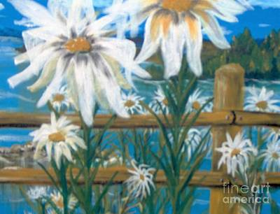 Art Print featuring the painting Daisy Dance by Saundra Johnson
