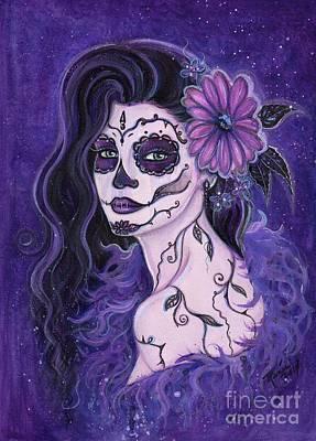 Daisy Day Of The Dead Art Print