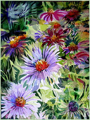 Daisy Drawing - Daisy Garden by Mindy Newman