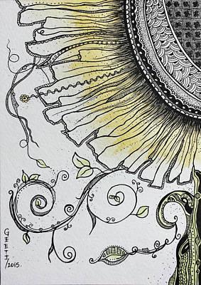 Daisy Drawing - Daisy by Geeti Garg
