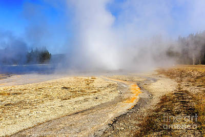Photograph - Daisy Geyser by Ben Graham