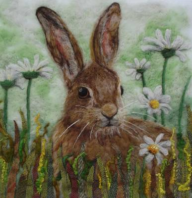 Needle Felting Mixed Media - Daisy Hare by Karen Price