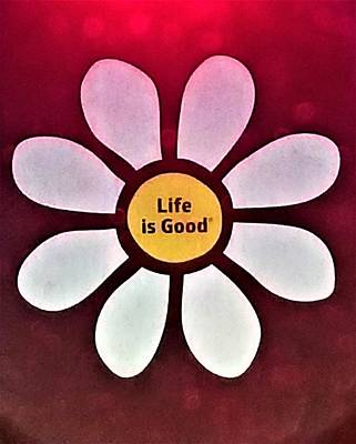 Photograph - Daisy Life Is Good by Rob Hans