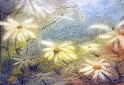 Daisy Light Art Print by Bob Duncan