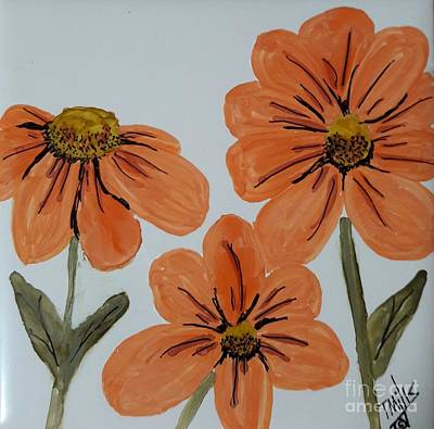 Painting - Daisy-like Flowers by Terri Mills