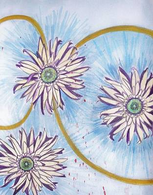 Painting - Daisy by Liz Adkinson