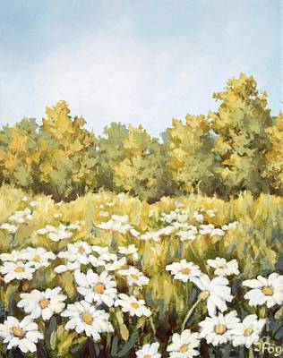 Painting - Daisy Meadow by Inese Poga