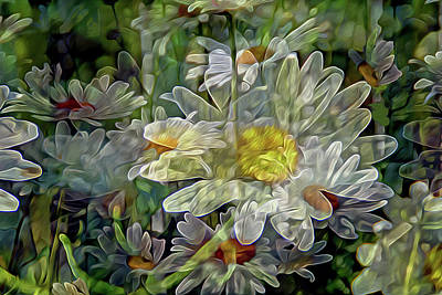 Digital Art - Daisy Mystique 8 by Lynda Lehmann