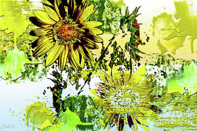 Sunflower On Water Art Print