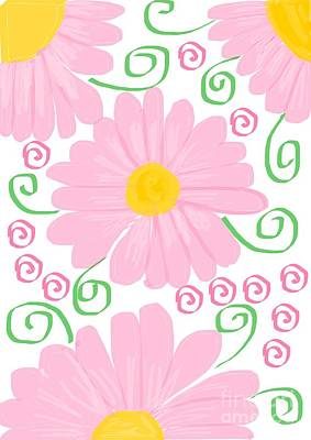 Cherry Blossoms Digital Art - Daisy Pattern by Nisha Verma