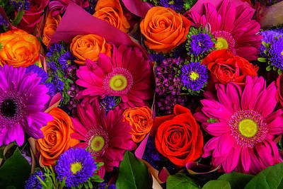 Gerbera Daisy Photograph - Daisy Rose Bouquet by Garry Gay