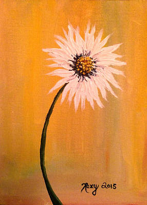 Yellow Painting - Daisy by Roxy Rich