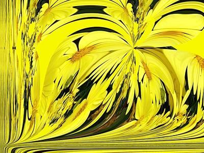 Digital Art - Daisy Shower by Nancy Pauling
