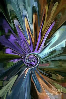 Abstract Movement Drawing - Daisy Splash by Dee Winslow
