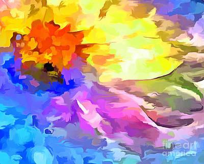 Digital Art - Daisy Splash by Krissy Katsimbras