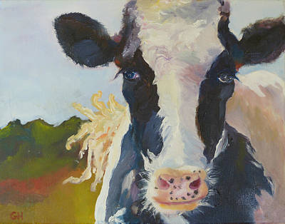 Daisy The Cow Original by Guilaine Hedquist