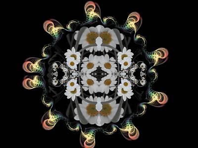 Digital Art - Daisy Tubes by Nancy Pauling