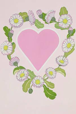 Be Happy Painting - Daisy Valentine by Lavinia Hamer