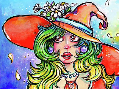Mixed Media - Daisy Witch by Nada Meeks