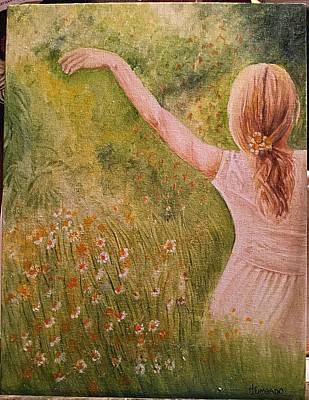 Daisying Around Art Print by Hermi Zumbado