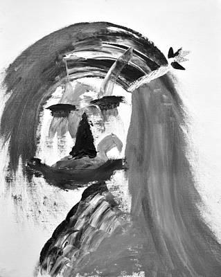 Woman Painting - Daisy's Portrait by Sumit Mehndiratta