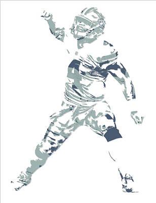 Prescott Mixed Media - Dak Prescott Dallas Cowboys Pixel Art 10 by Joe Hamilton