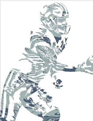 Prescott Mixed Media - Dak Prescott Dallas Cowboys Pixel Art 11 by Joe Hamilton