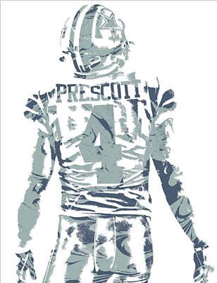 Dallas Mixed Media - Dak Prescott Dallas Cowboys Pixel Art 12 by Joe Hamilton