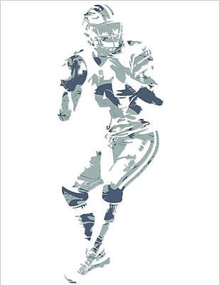 Prescott Mixed Media - Dak Prescott Dallas Cowboys Pixel Art 13 by Joe Hamilton
