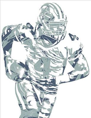 Prescott Mixed Media - Dak Prescott Dallas Cowboys Pixel Art 14 by Joe Hamilton