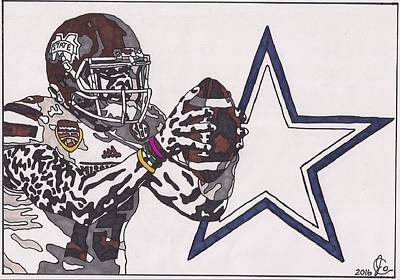 Drawing - Dak Prescott by Jeremiah Colley